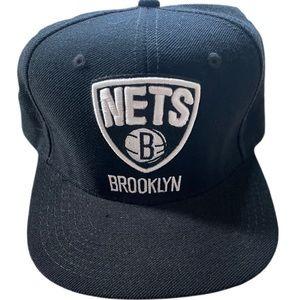 NWOT Adidas Brooklyn Nets Black SnapBack Hat OSFM